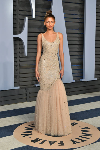 Zendaya attends the 2018 Vanity Fair Oscar Party hosted by Radhika Jones at Wallis Annenberg Center for the Performing Arts on March 4, 2018 in Beverly Hills, California. (Photo by Dia Dipasupil/Getty Images)