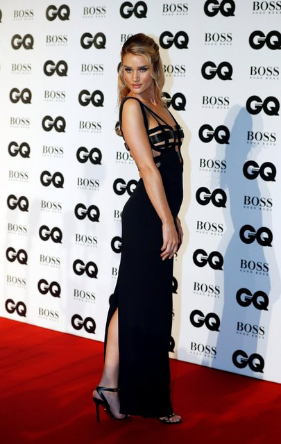 Rosie Huntington-Whiteley attends the GQ Men of the Year Awards at Tate Modern on September 5, 2018 in London, England. (Photo by Peter Nicholls/Reuters)