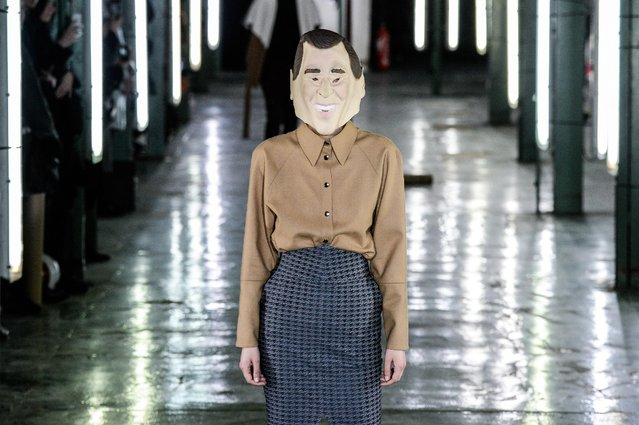 A model walks the runway during the AVOC Menswear Fall/Winter 2016-2017 show as part of Paris Fashion Week on January 20, 2016 in Paris, France. (Photo by Francois Durand/Getty Images)