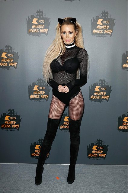 Olivia Attwood attends KISS Haunted house Party 2018 at The SSE Arena, Wembley on October 26, 2018 in London, England. (Photo by John Phillips/Getty Images)