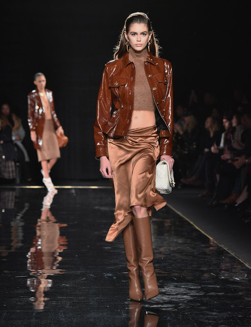US model Kaia Gerber walks the runway at the Versace Pre-Fall 2019 Runway Show on December 2, 2018 in New York City. (Photo by Angela Weiss/AFP Photo)