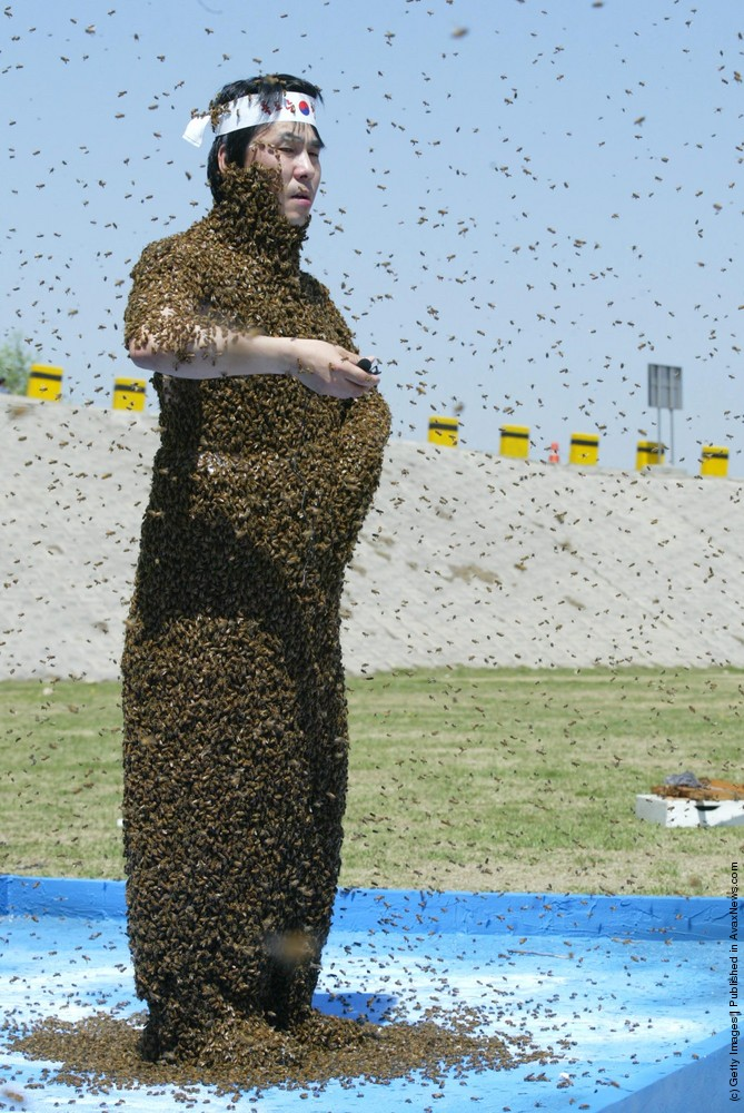 Bee Keeper Protests Japanese Claims On Islands
