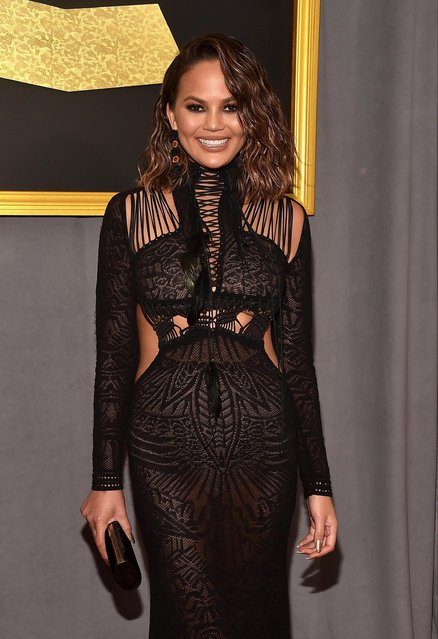 Model/Media Personality Chrissy Teigen attends The 59th GRAMMY Awards at STAPLES Center on February 12, 2017 in Los Angeles, California. (Photo by Alberto E. Rodriguez/Getty Images for NARAS)