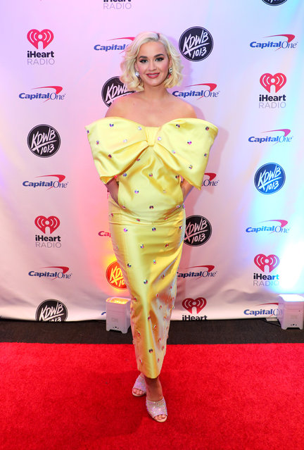 Katy Perry attends 101.3 KDWB's Jingle Ball 2019 presented by Capital One at Xcel Energy Center on December 9, 2019 in St. Paul/Minneapolis, Minnesota. (Photo by Adam Bettcher/Getty Images for iHeartMedia)