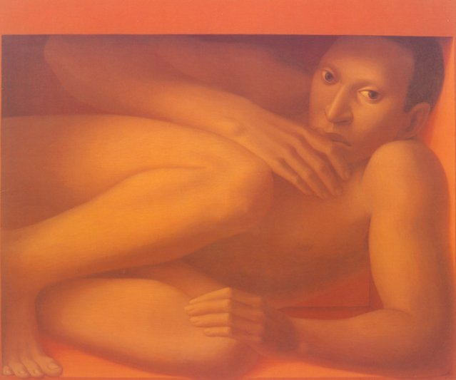 Man In The Box. Artwork by George Tooker