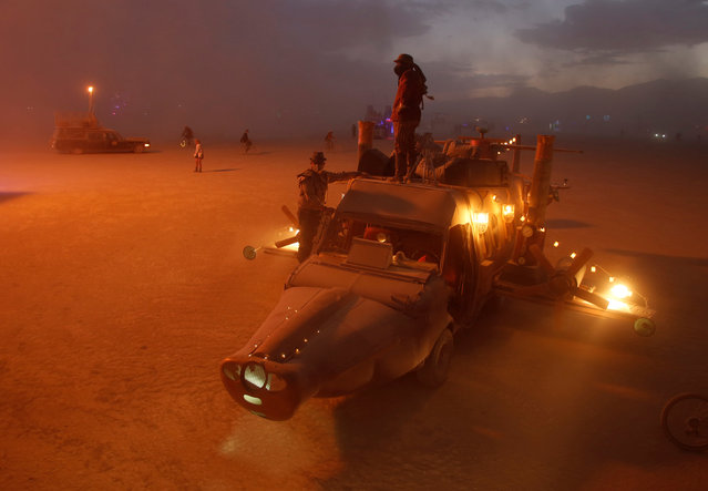 Mutant vehicles on the Playa are seen as approximately 70,000 people from all over the world gather for the 30th annual Burning Man arts and music festival in the Black Rock Desert of Nevada, U.S.  September 3, 2016. (Photo by Jim Urquhart/Reuters)