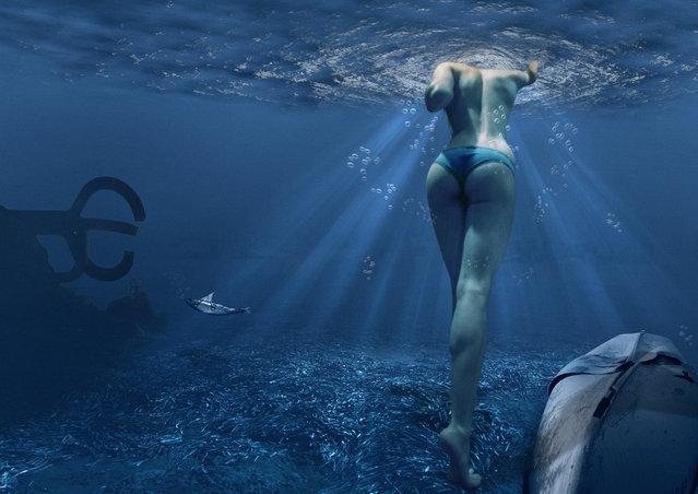 """""""Vull sortir a la superficie, i ... respirar"""". (Photo by Véronique Carreño Andreu)"""