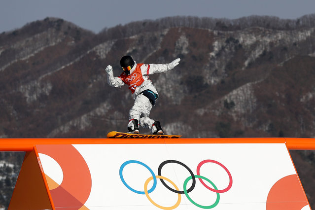 Kyle Mack of USA in action during Slopestyle training ahead of the PyeongChang 2018 Winter Olympic Games at Phoenix Park on February 8, 2018 in Pyeongchang-gun, South Korea. (Photo by Clive Rose/Getty Images)