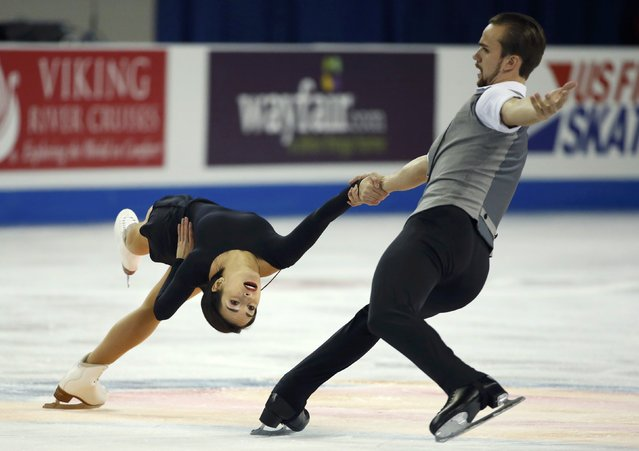 Ksenia Stolbova and Fedor Klimov of Russia perform during the Pairs short program at the Skate America figure skating competition in Milwaukee, Wisconsin October 23, 2015. (Photo by Lucy Nicholson/Reuters)