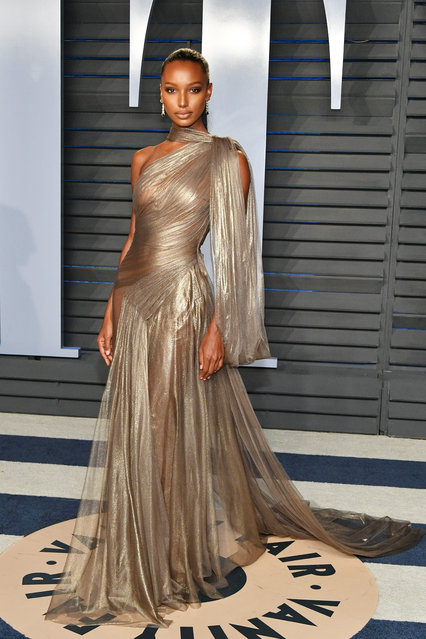 Jasmine Tookes attends the 2018 Vanity Fair Oscar Party hosted by Radhika Jones at Wallis Annenberg Center for the Performing Arts on March 4, 2018 in Beverly Hills, California. (Photo by Dia Dipasupil/Getty Images)