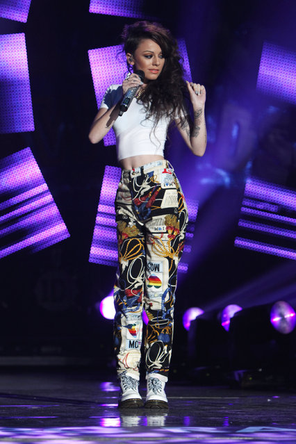 Cher Lloyd performs at the BBC Teen Awards at Wembley arena on October 9, 2011 in London, United Kingdom.  (Photo by Dave Hogan)