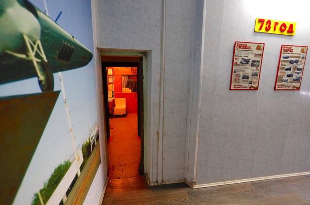 A small door leads into Stalin's Bunker in Samara, Russia, on Tuesday, June 26, 2018. (Photo by David Gray/Reuters)