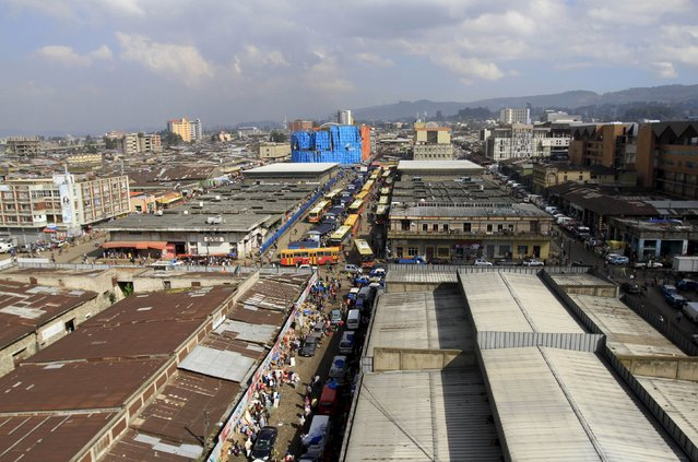 A general view of the Mercato market in Addis Ababa September 11, 2015. (Photo by Tiksa Negeri/Reuters)