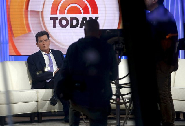 Actor Charlie Sheen revealed that he is HIV positive during a TV interview in November, saying he was diagnosed with HIV about four years ago. Pictured on the set of the NBC Today show New York, November 17, 2015. (Photo by Mike Segar/Reuters)