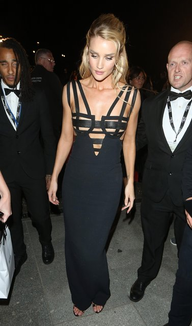 Rosie Huntington-Whiteley attends the GQ Men of the Year Awards at Tate Modern on September 5, 2018 in London, England. (Photo by Splash News and Pictures)