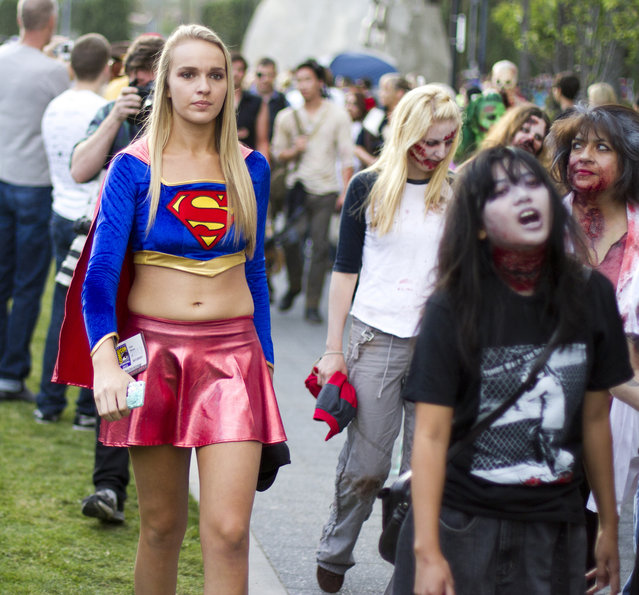 """Supergirl will save us from the Zombies!"" (Photo and caption by Nathan Rupert)"