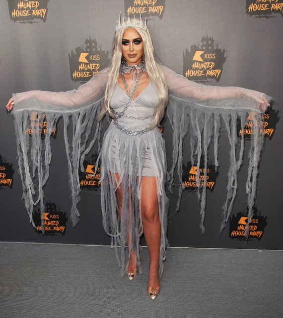 Marnie Simpson attends KISS Haunted house Party 2018 at The SSE Arena, Wembley on October 26, 2018 in London, England. (Photo by Splash News and Pictures)