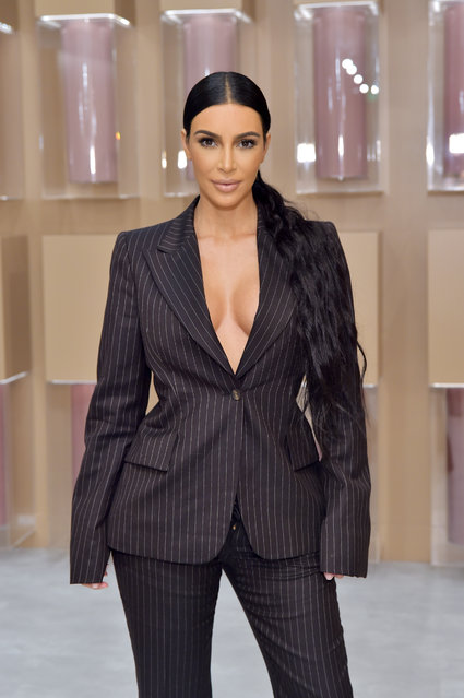 Kim Kardashian West attends the KKW Beauty Pop-Up at South Coast Plaza on December 4, 2018 in Costa Mesa, California.  (Photo by Stefanie Keenan/Getty Images for KKW Beauty)