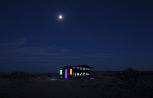 House Of Mirror In The Californian Desert, USA