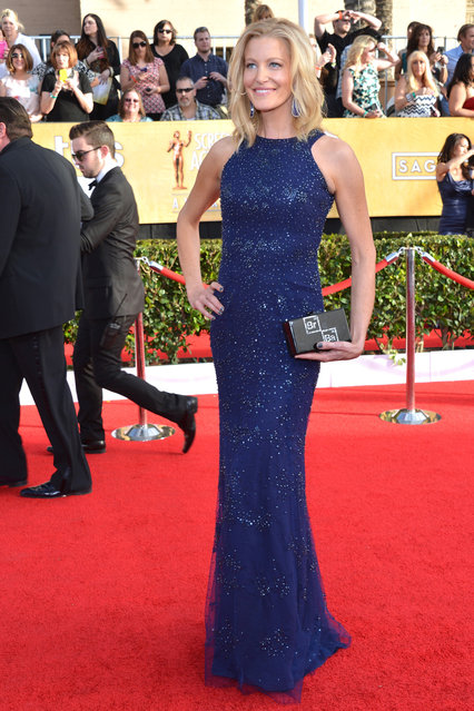 Actress Anna Gunn attends the 20th Annual Screen Actors Guild Awards at The Shrine Auditorium on January 18, 2014 in Los Angeles, California. (Photo by Lester Cohen/WireImage)