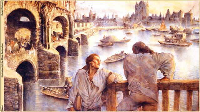 llustration for the Movie Restoration. Artwork by Oscar Chichoni