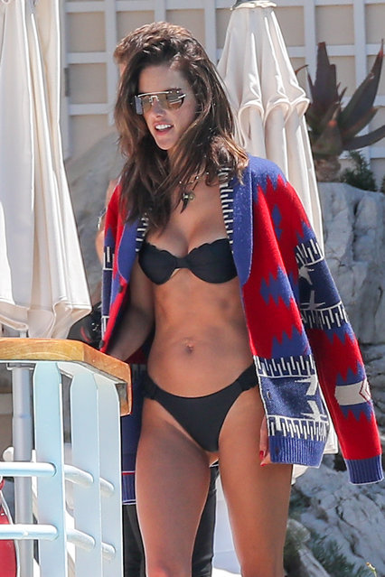 Alessandra Ambrosio in bikini at Eden Roc Hotel in Antibes, France on May 16, 2019. (Photo by Splash News and Pictures)