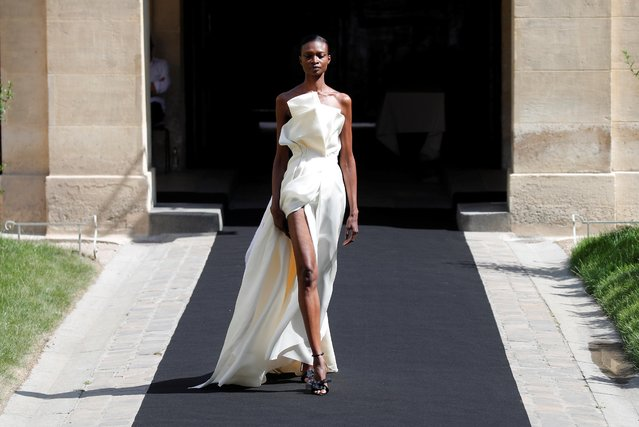A model presents a creation by designer Sofia Crociani as part of her Haute Couture Fall/Winter 2019/20 collection show for Aelis in Paris, France, June 30, 2019. (Photo by Charles Platiau/Reuters)