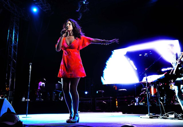 Lana Del Rey performs at the 2014 Coachella Music and Arts Festival. (Photo by Chris Pizzello/Invision)