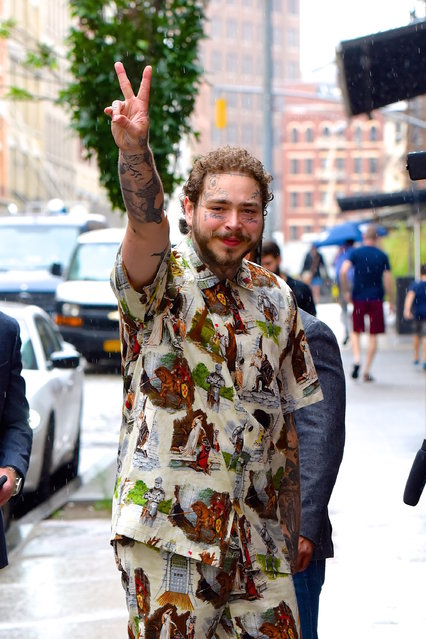 Post Malone seen out and about in Manhattan on  August 6, 2019 in New York City. (Photo by Robert Kamau/GC Images)