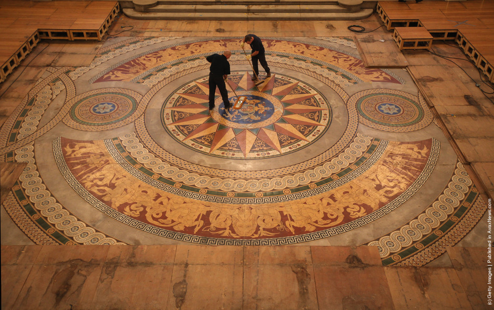 St. Georges Hall's Rare Minton Floor Tiles Are Prepared For Public Display