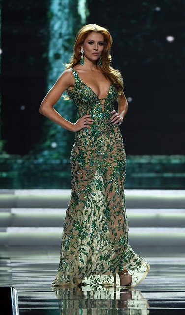 Miss New York USA 2017 Hannah Lopa competes in the evening gown competition during the 2017 Miss USA pageant at the Mandalay Bay Events Center on May 14, 2017 in Las Vegas, Nevada. (Photo by Ethan Miller/Getty Images)