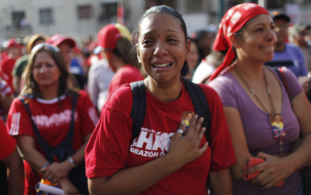 Mourning Late President Hugo Chavez (57 Photos)