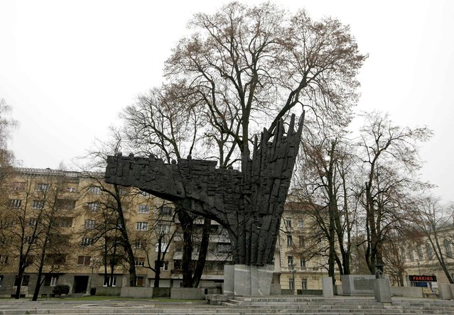 General view of a monument to the Revolution in Ljubljana, Slovenia November 23, 2014. (Photo by Srdjan Zivulovic/Reuters)