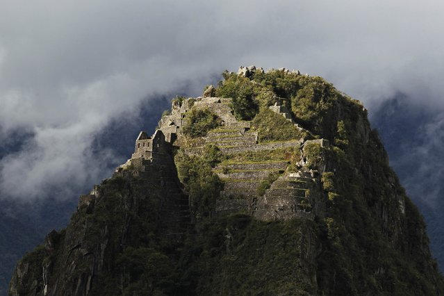 The peak of Huayna Picchu, the mountain rising above the Inca citadel of Machu Picchu, is seen in Cusco December 2, 2014. (Photo by Enrique Castro-Mendivil/Reuters)