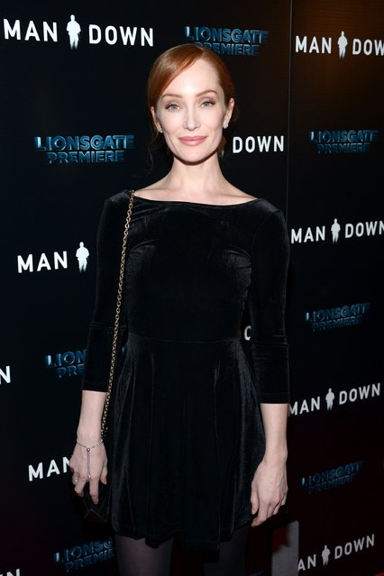 "Actress Lotte Verbeek attends the premiere of Lionsgate Premiere's ""Man Down"" at ArcLight Hollywood on November 30, 2016 in Hollywood, California. (Photo by Matt Winkelmeyer/Getty Images)"