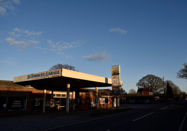 A former petrol station, now used as a furniture and car sales room as well as vehicle repairs centre, is seen on a minor road near Telford, Britain, April 5, 2016. (Photo by Toby Melville/Reuters)