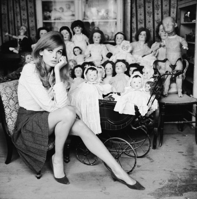 Jean Shrimpton, London, 1964. (Photo by Terry O'Neill)