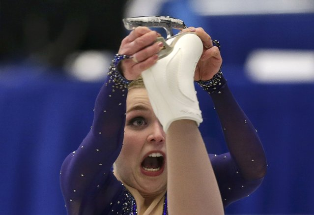 Slovakia' s Nicole Rajicova skates her free program at the European Figure Skating Championships in Ostrava, Czech Republic, Friday, January 27, 2017. (Photo by David W. Cerny/Reuters)