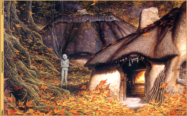 Autumn Forest. Artwork by Oscar Chichoni