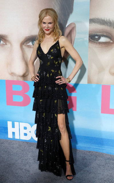 """Cast member Nicole Kidman poses at the premiere of the HBO television series """"Big Little Lies"""" in Los Angeles, California U.S., February 7, 2017. (Photo by Mario Anzuoni/Reuters)"""