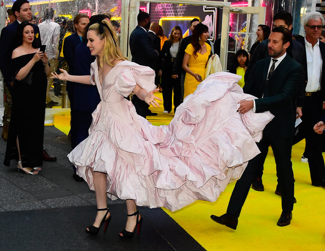 "Kathryn Newton attends the ""Pokemon Detective Pikachu"" U.S. Premiere at Times Square on May 2, 2019 in New York City. (Photo by Raymond Hall/GC Images)"