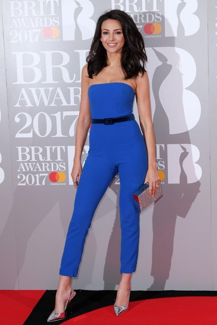 Actress Michelle Keegan attends The BRIT Awards 2017 at The O2 Arena on February 22, 2017 in London, England. (Photo by David Fisher/Rex Features/Shutterstock)