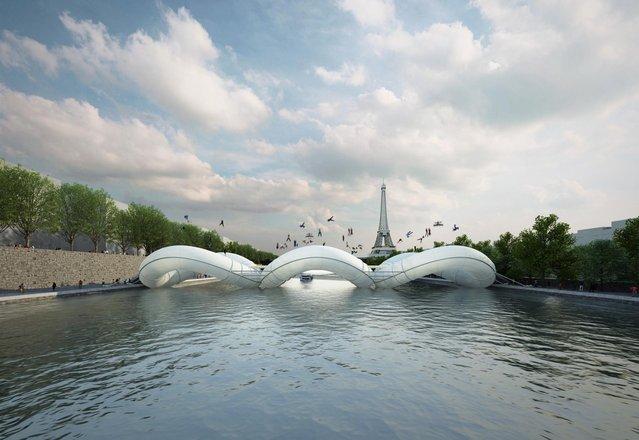 Paris Attractions - Trampoline Bridge In France