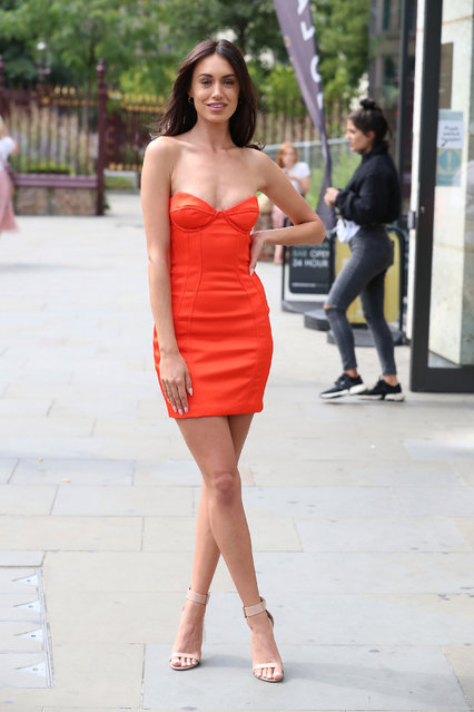 Clelia Theodorou seen arriving for The Only Way Is Essex – Series 25 summer party at Jin Bo Law on August 30, 2019 in London, England. (Photo by Neil Mockford/GC Images)