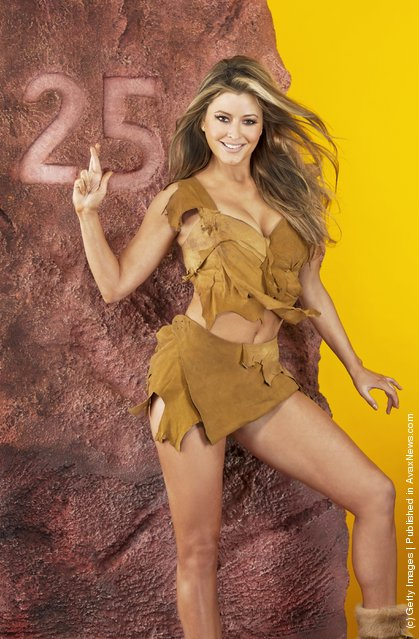 Strictly Come Dancing star, actress and singer Holly Valance recreates a scene from One Million Years BC to celebrate the fact that players could win One Million Pounds Before Christmas