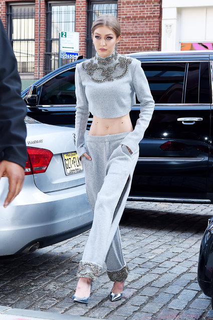 Model Gigi Hadid is seen on April 12, 2017 in New York City. (Photo by NCP/Star Max/GC Images)