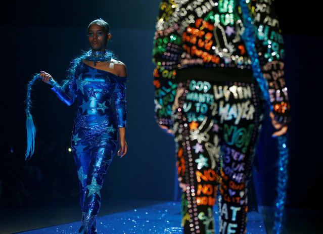 Models present creations from the fashion label Discount Universe during Australian Fashion week in Sydney, Australia May 18, 2016. (Photo by Jason Reed/Reuters)