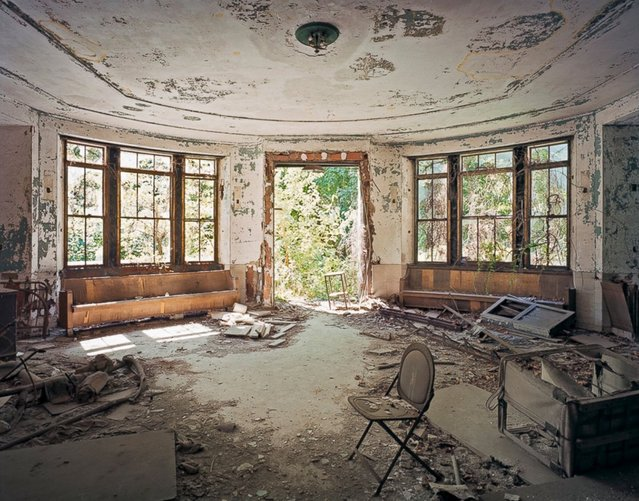 Tuberculosis Pavilion Lobby, North Brother Island, New York. Photographer Christopher Payne specializes in the documentation of America's vanishing architecture and industrial landscape. His new book, North Brother Island: The Last Unknown Place in New York City, explores an uninhabited island of ruins in the East River of New York City. (Photo by Christopher Payne)