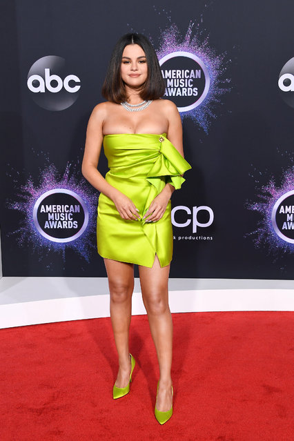 Selena Gomez arrives at the 2019 American Music Awards at Microsoft Theater on November 24, 2019 in Los Angeles, California. (Photo by Steve Granitz/WireImage)