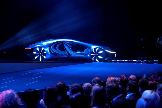 The Mercedes-Benz Vision AVTR concept car, inspired by the Avatar movies, is unveiled at a Daimler keynote address during the 2020 CES in Las Vegas, Nevada, U.S. on January 6, 2020. (Photo by Steve Marcus/Reuters)
